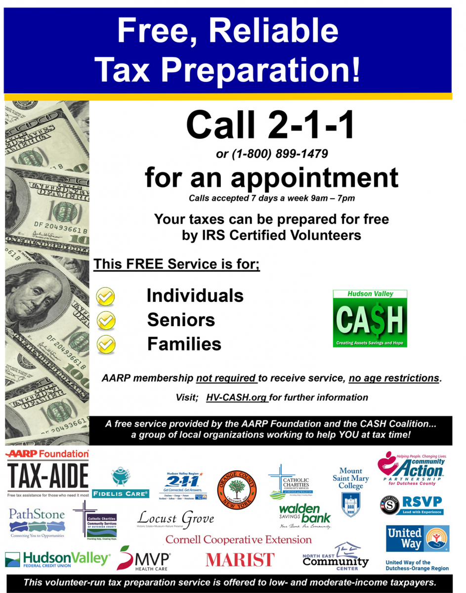 free tax preparation and information | united way of dutchess-orange